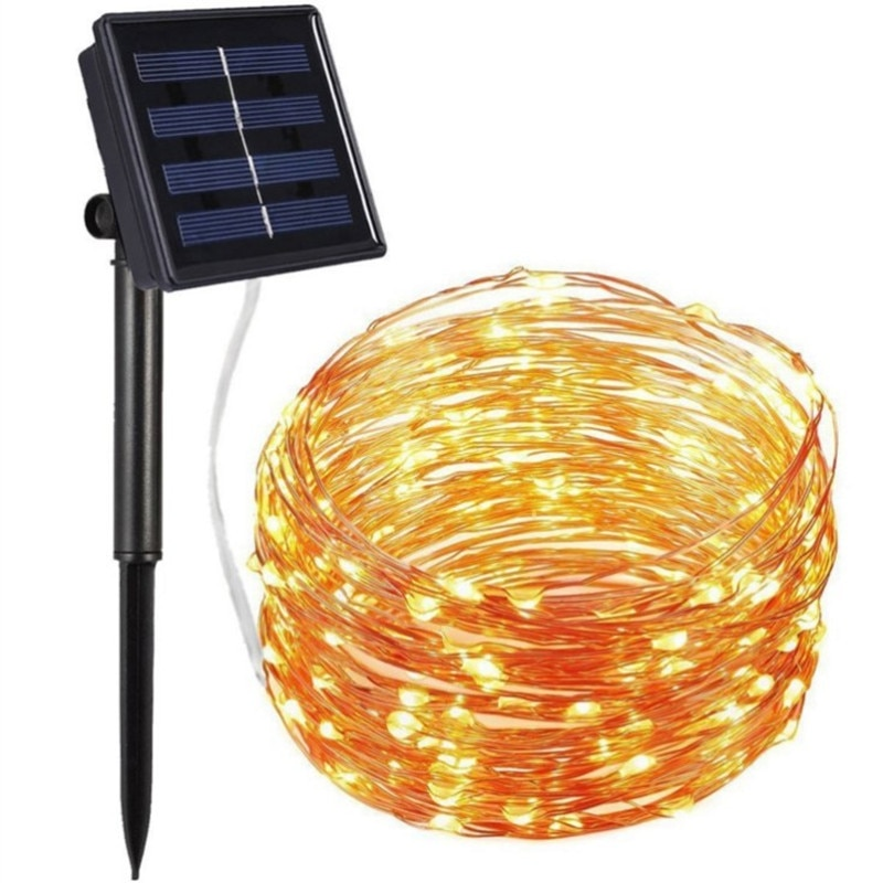 LED Solar Light Outdoor Waterproof Fairy Garland String Lights Christmas Party Garden Lamp Decoration Led