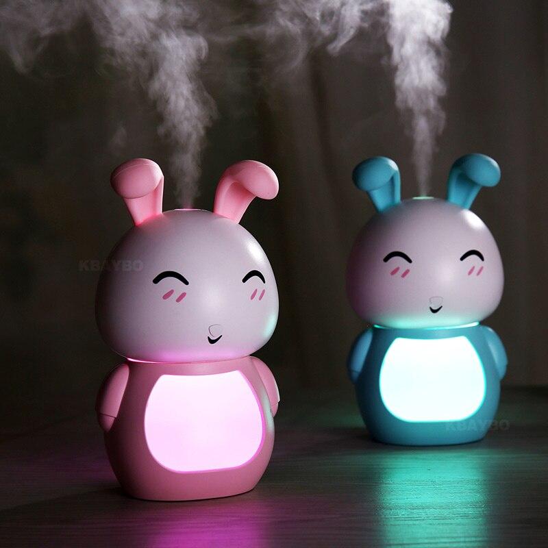 LED nachtlicht lampe 200ML USB Aroma therisches l Diffusor Ultraschall Khlen Nebel Kaninchen Luftbefeuchter Luftreiniger fr Br