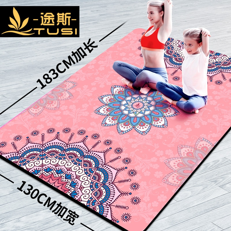 Tousi Double Yoga Mat Women's Non-Slip Dance Mat Children Practice Thickening, Widening and Lengthening Floor Mat