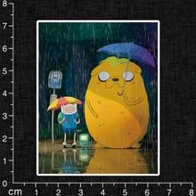 Single Cute Adventure Time Cartoon Sticker for Kids Toy Laptop Notebook Phone Stakeboard PVC Waterproof Funny Movie Sticker