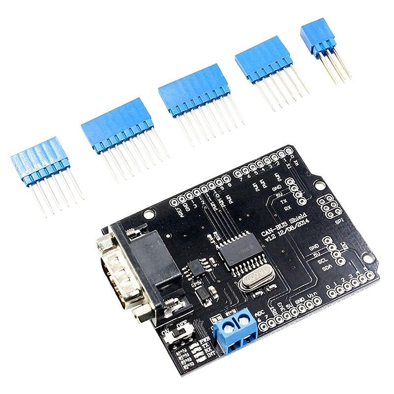 Módulo Mcp2515 Ef02037 para placa de desarrollo de placa de expansión Arduino Can-Bus Shield, tablero de comunicación de protocolo Can