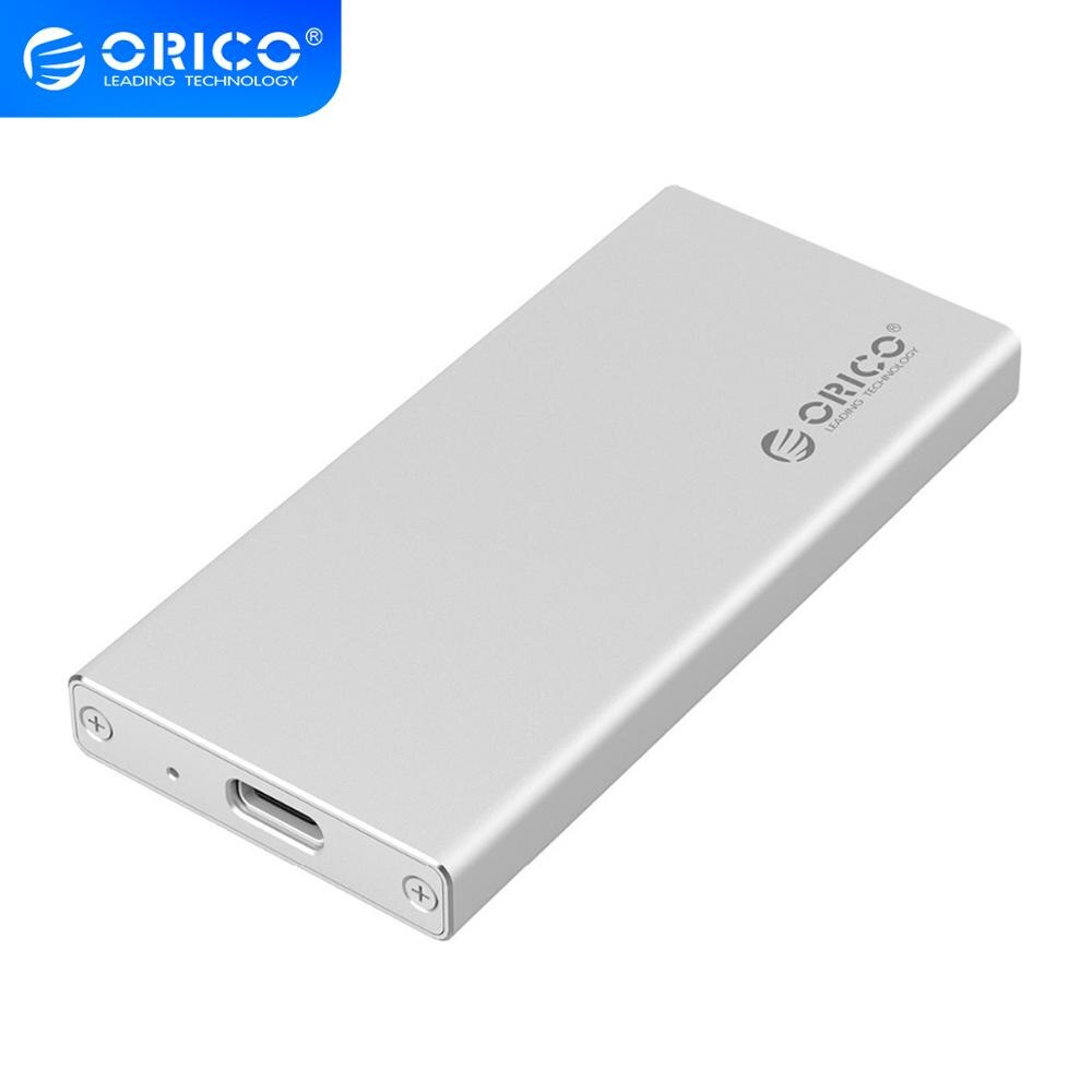 ORICO MSA-UC3 typ C Port aluminium mSATA na USB 3.0 obudowa SSD Adapter Case, wbudowany kontroler ASM1153E-srebrny