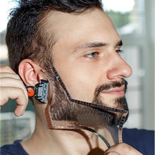 Beard barba moustache Shaping Template Shower Salon Beard Shaving shave Shape style styling comb care brush Tool