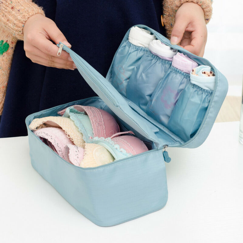 Portable Travel Bra Lingerie Socks Underwear Handbag Organizer Bag Storage Case For Travel Trip