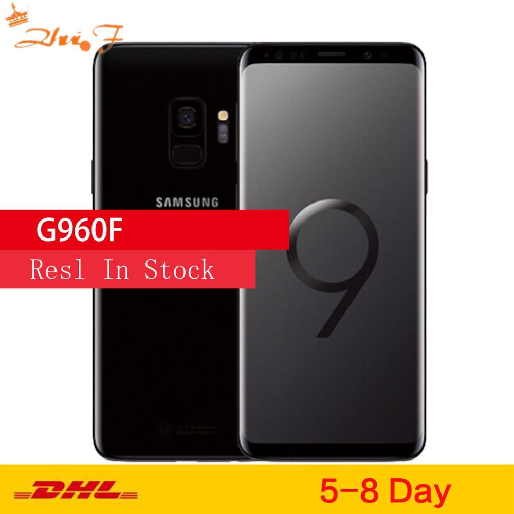 Samsung Galaxy S9 G960F оригинальной ОС Android мобильный телефон 4 аппарат не привязан к оператору сотовой связи Exynos 9810 Octa Core 5,8 дюйм 12MP & 8MP RAM 4GB ROM 64 Гб NFC