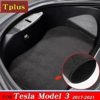 2pcs new model3 trunk mat accessories flannel anti dirty front trunk mats for tesla model 3 mats car dust protection pad mat