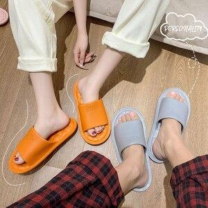 Home Ladies EVA Rhombus Slides Soft EVA Ultralight Summer Indoor Women Bathroom Slippers Non-slip Bedroom Couples Flat Shoes
