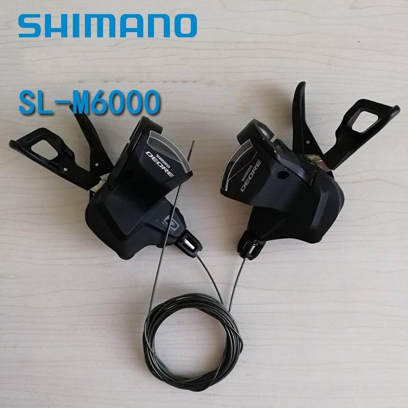 Shimano Deore SL-M6000 palanca de cambio de bicicleta de 10 velocidades izquierda derecha 3x10 velocidades bicicleta de montaña