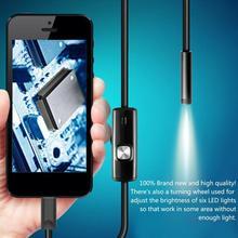 7mm Caméra Dendoscope Flexible IP67 Étanche Micro USB Caméra Dinspection pour Android PC Portable 6Led Réglable