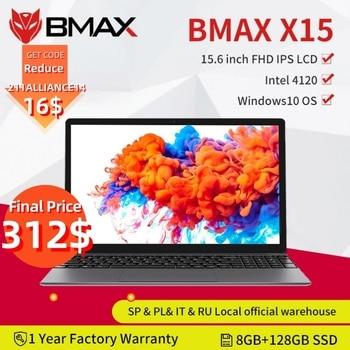 BMAX – pc portable X15 avec écran de 15.6 pouces, windows 10, processeur Intel 4120, qc Core, 1920x1080, 8 go de RAM, 128 go de ROM, double Wifi, HDMI, USB