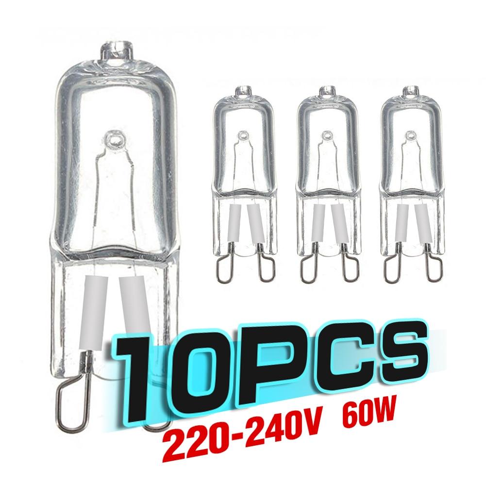aliexpress.com - 10Pcs 20W 25W 40W 60W G9 Oven Light High Temperature Resistant Durable G9 220V 230V Halogen Bulb Lamp for Refrigerators Ovens