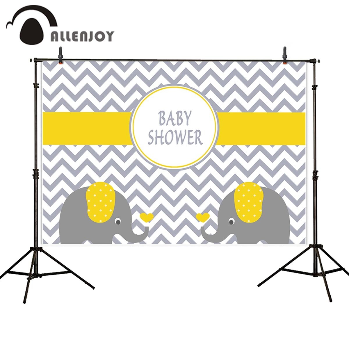Allenjoy photography backdrops chevron yellow elephant baby shower birthday backgrounds for photo studio photography background allenjoy photography backdrops background stage dancers pink green bokeh watercolor baby shower newborn props spring princess