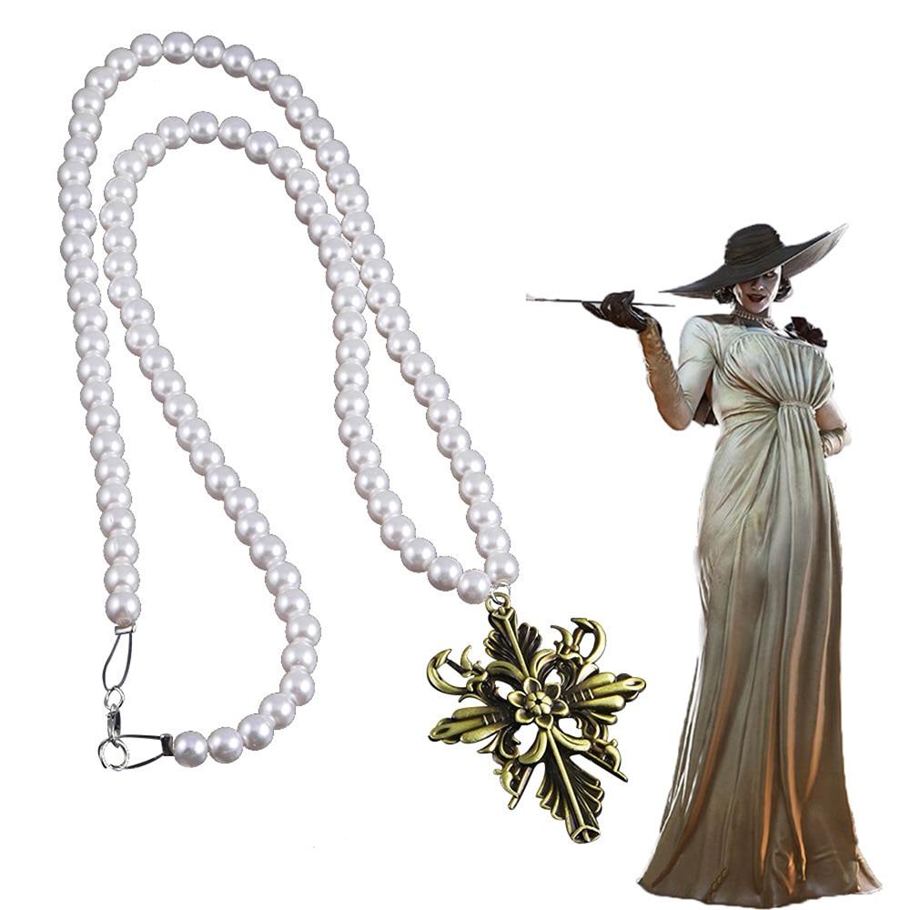 Женское Ожерелье для косплея из деревни Димитреску, аксессуар для костюма вампира