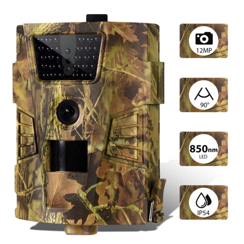 HT-001B 12MP Digital Trail Kamera 1080P Infrarot LED Jagd Kamera Wasserdichte 120 Grad Winkel Wilden Nacht Ansicht Kamera