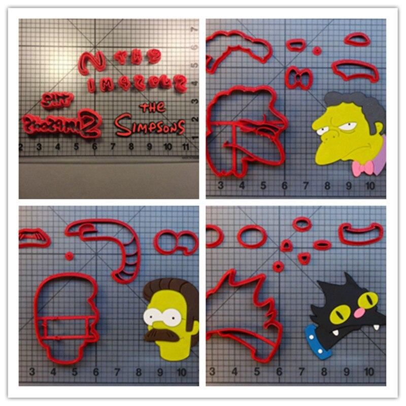 Filme personagens filme simpson família fondant cortadores moe szyslak ned flanders snowball bolo de aniversário cupcake biscoitos lollipop
