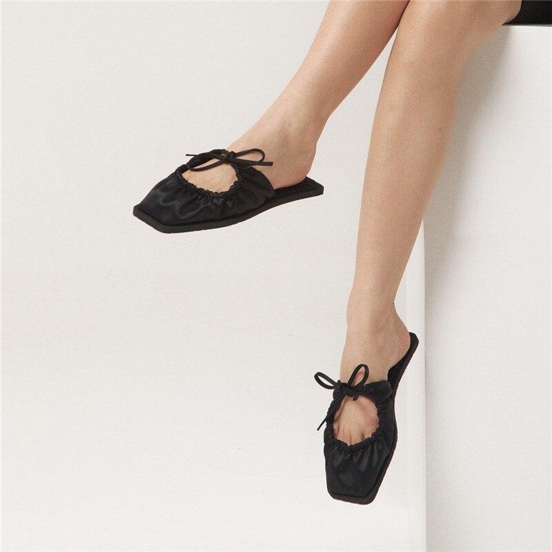 Sandalias planas con punta cuadrada para Mujer, Zapatos De Plataforma, De Color...