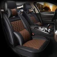 hlfntf leather car seat covers for car seat covers for volkswagen vw passat b5 6 polo golf 4 tiguan jetta t5 car accessories