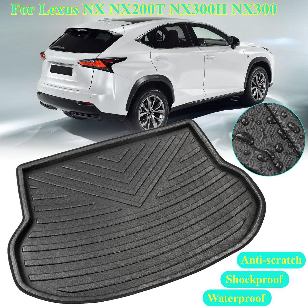 Accesorios para maletero Liner para Lexus NX NX200T NX300H NX300 2015 2016 2017 2018 esterilla trasera del maletero piso bandeja alfombra almohadilla de barro