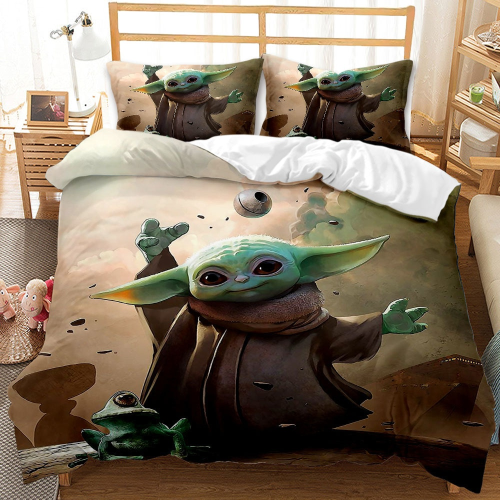 disney star wars bebe yoda jogo de cama 3d casa textil para criancas presente unica