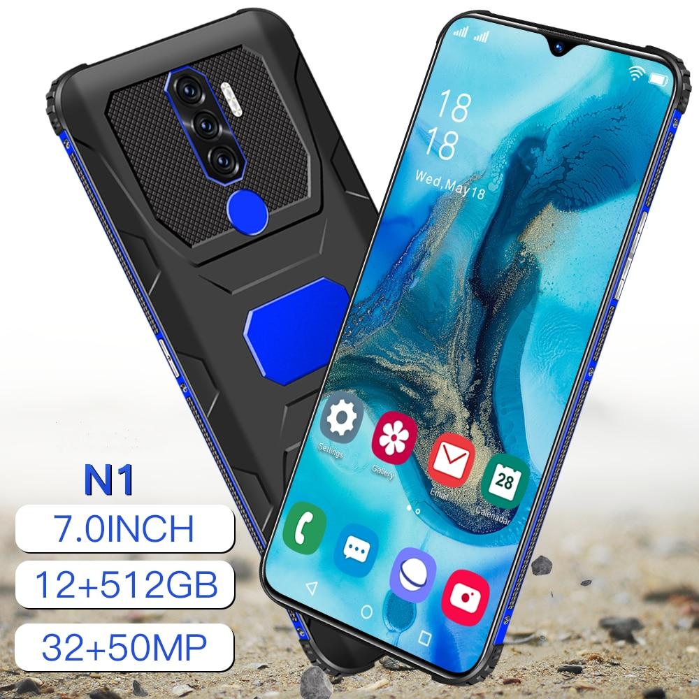"""Shockproof Smartphones Global 7.0"""" N1 Rugged Qualcomm 888 Waterproof Deca Core 16G 512GB Dual SIM 6800mAh Androi11.0"""