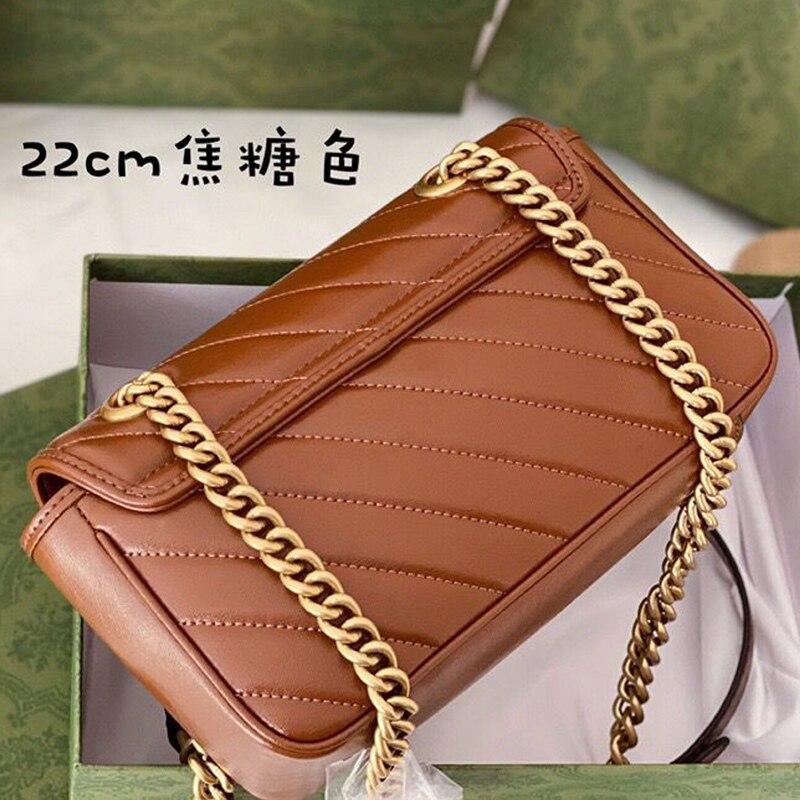2021 نجمة جديدة مع نفس الفقرة Montaigne حقيبة المعين سلسلة الإناث حقيبة الكتف رسول صندوق مربع صغير انفجار