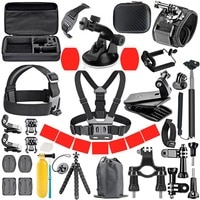 Набор аксессуаров для GoPro, для GoPro Hero 9 8 7 6 5 4, черный чехол с креплением для Yi 4k Mijia, для экшн-камеры Sjcam