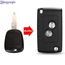 jingyuqin Modified 2B Remote Car Key Case Shell Cover For Citroen C2 C3 Xsara PicassoFor Peugeot 206 306 406 Fob Cover