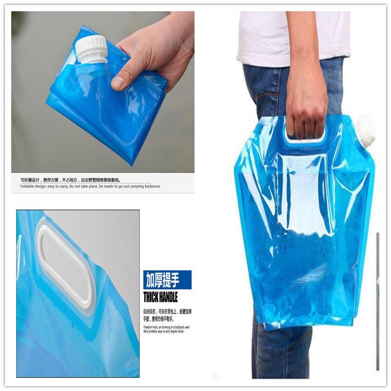 Bolsa de agua plegable para exteriores de 5L/10L, bolsa de transporte para acampar al aire libre, senderismo, Picnic, Kits de emergencia