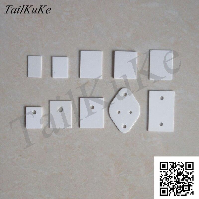 A-220 Folha De Cerâmica De Alumina TO-3P1 Substrato de Cerâmica de Alta Temperatura Resistente A-247/264 Radiador Cerâmica
