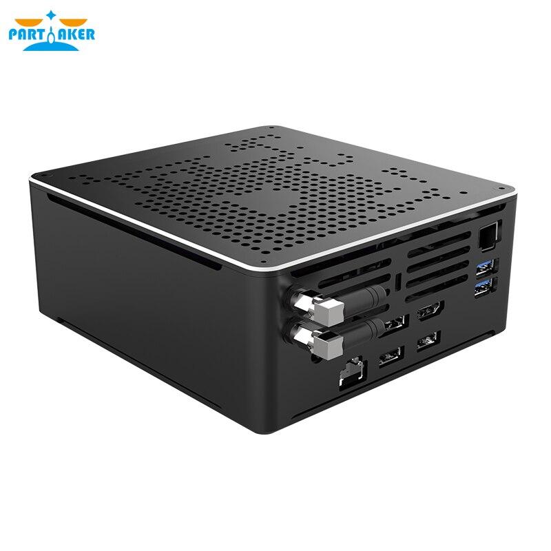 Parмягкий ПК Xeon E2176M i5-10300H i9 9880H i7 Mini PC 2 Lan Windows 10 2 * DDR4 2 * M.2 NVME AC WiFi игровой настольный компьютер 4K DP HD