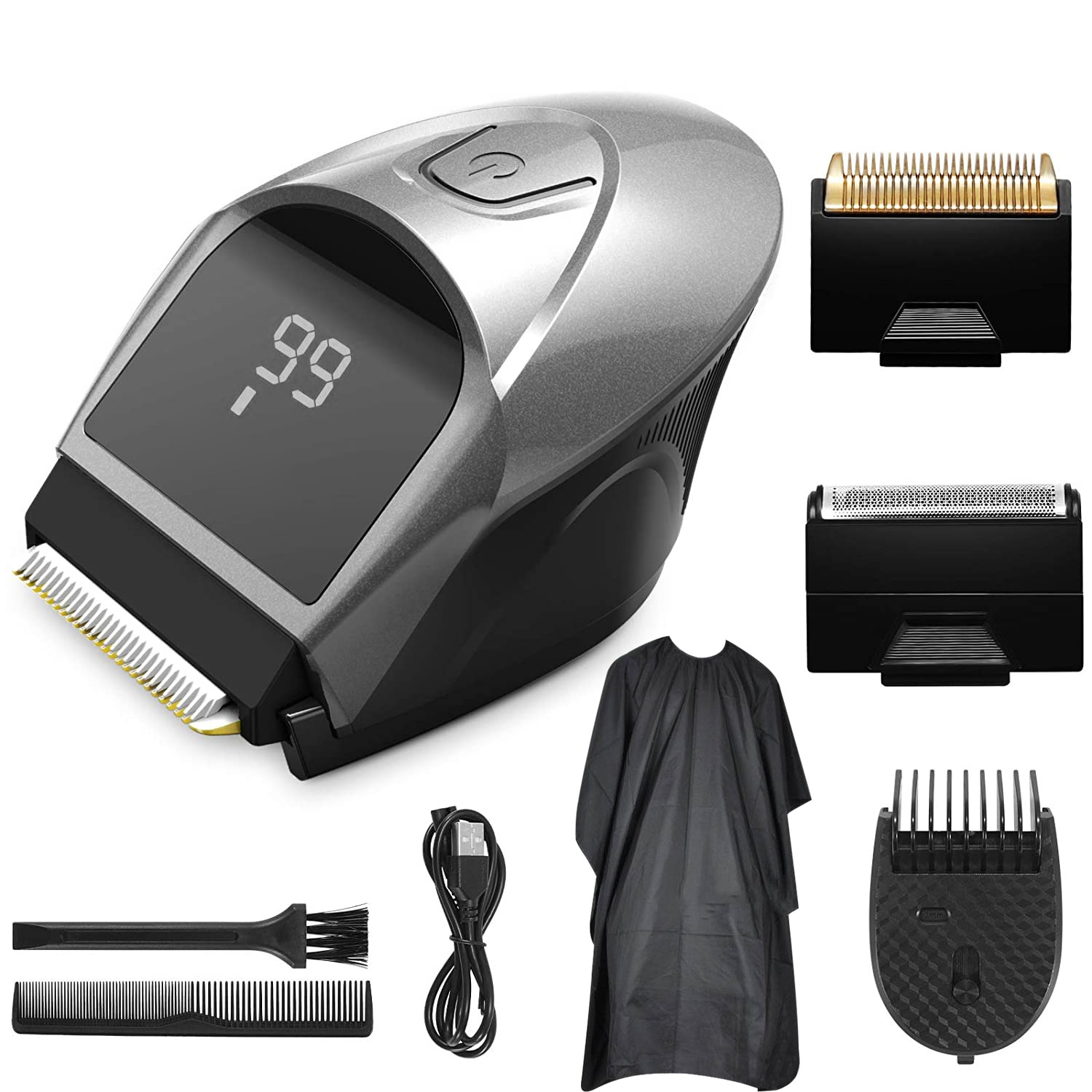 classic body grooming hair clippers shaving set haircut kit precision blade great for barbers and stylist guide combs attachment FOXSONIC Self-Haircut Hair Clippers Men Head Clipper Rechargeable Shortcut Grooming Haircut Kit Cordless Electric Hair Trimmer
