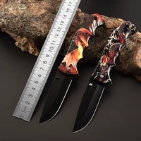 cnorigin color box packaging folding knife stainless steel outdoor knife field survival self defense knifes