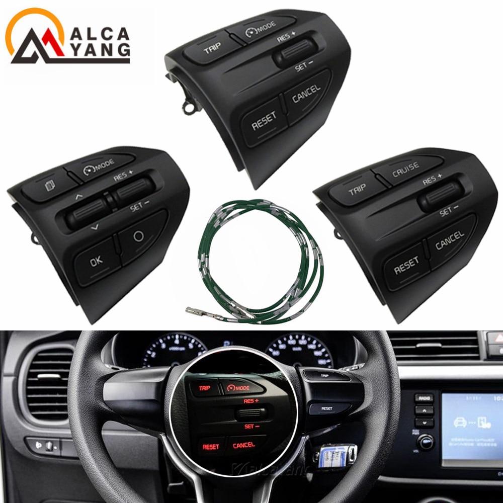 Steering Wheel Button For KIA K2 RIO 2017 2018 2019 RIO X LINE Buttons Bluetooth Phone Cruise Contro