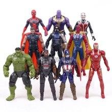 Christmas gift Marvel Avengers 3 Infinity War Action Figures Toys Set Hulk Captain America Spiderman Thanos Iron Man Hulkbuster