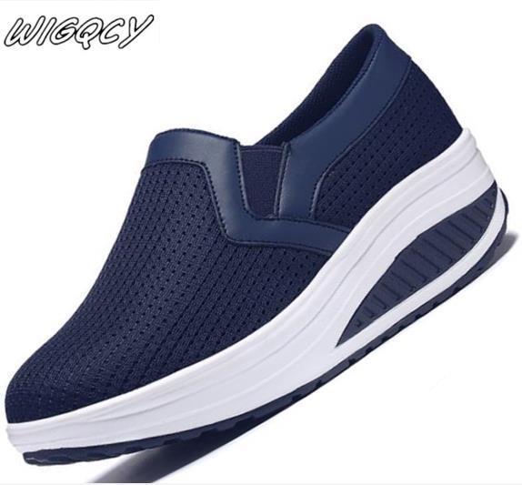 Zapatos casuales transpirables para mujer, a la moda zapatillas de deporte, deportivas...