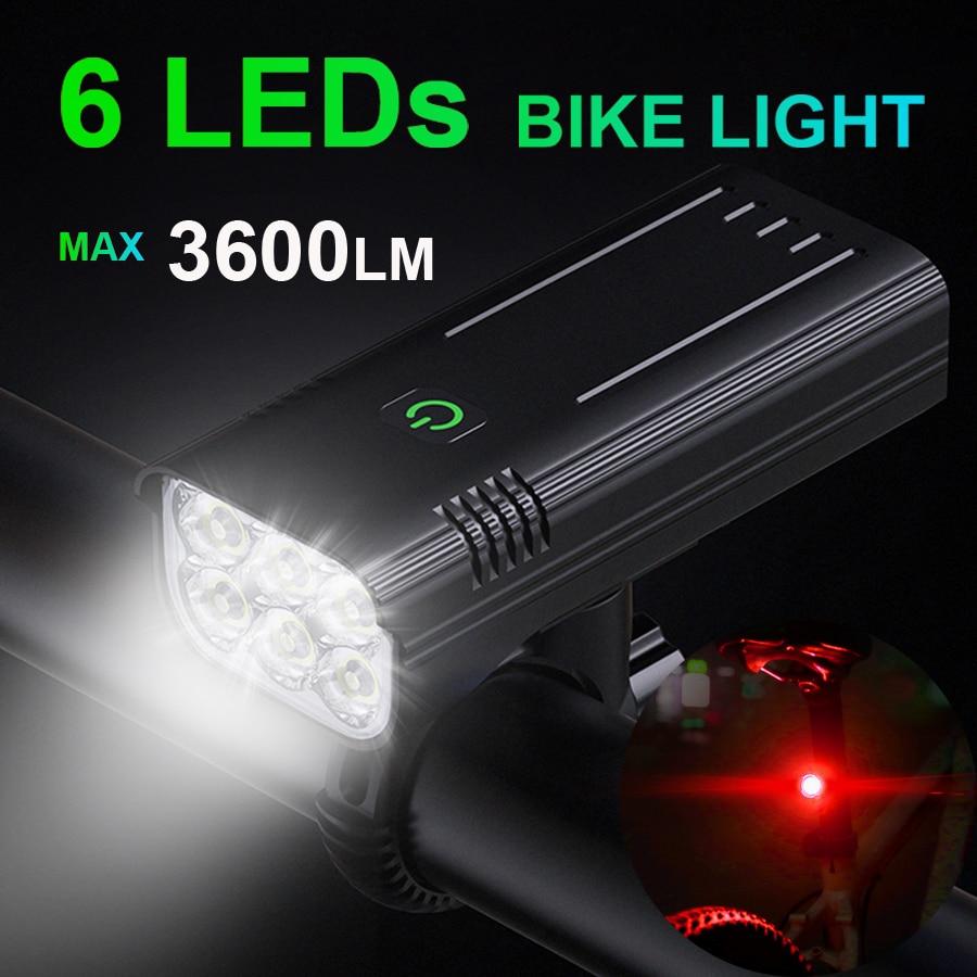 NEWBOLER الدراجة الخفيفة 3600 لومينز USB قابلة للشحن الألومنيوم طقم كشافات للدراجات 5200mAh مع قوة البنك المصباح دراجة الملحقات