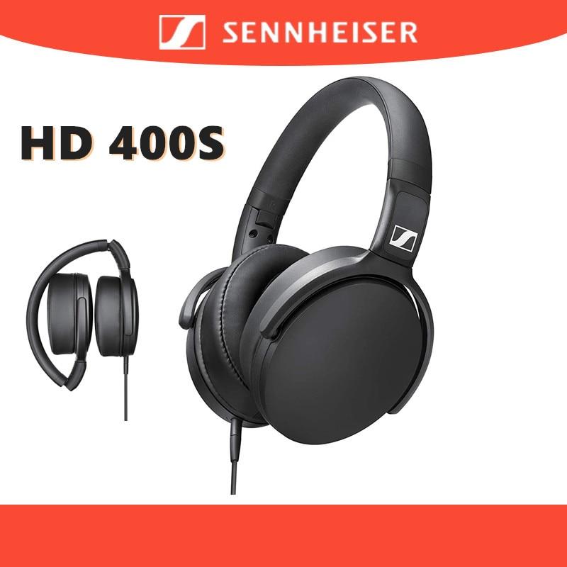 100% оригинальные наушники Sennheiser HD 400S, наушники-вкладыши с шумоизоляцией, стерео, музыка, складная гарнитура Sennheiser с глубокими басами
