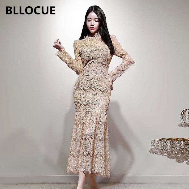 BLLOCUE-فستان سهرة عتيق ، أنيق ، مجموعة ربيع OL ، ذيل سمكة طويل ، مجموعة الورك ، مثير ، نسائي ، دانتيل ، مجموعة جديدة ، 2020