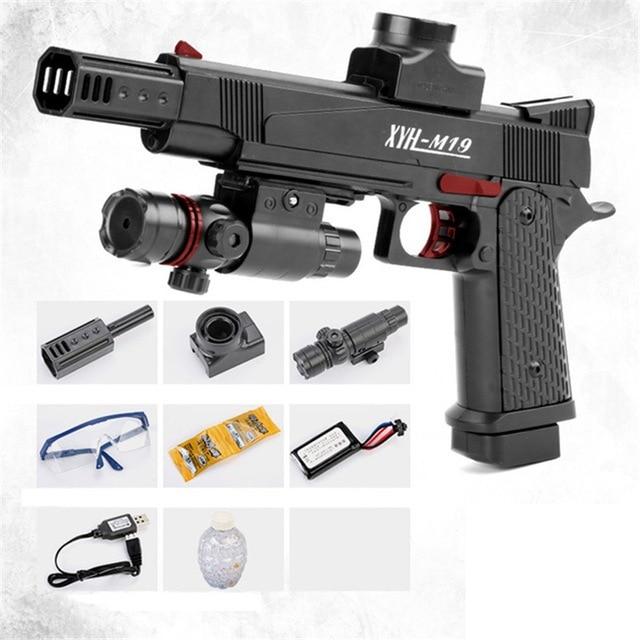 Water Bullet Gun Gel Ball Pistol Electric Air Gun With Red Dot Sight Plastic Airsoft Water Boys Outdoor 75205