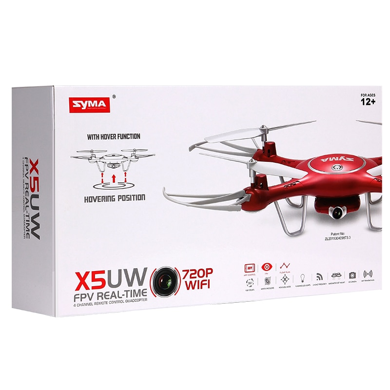 Original SYMA X5UW four-axis HD aerial photography vehicle intelligent fixed height 720P remote control aircraft children toys enlarge
