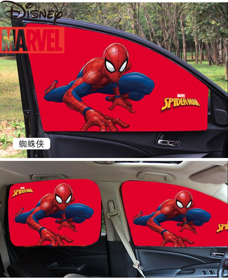 Disney Marvel Car Heat-insulating Sun-shading Curtains Magnetic Car Glass Curtains Blocking Light and Heat Insulation enlarge