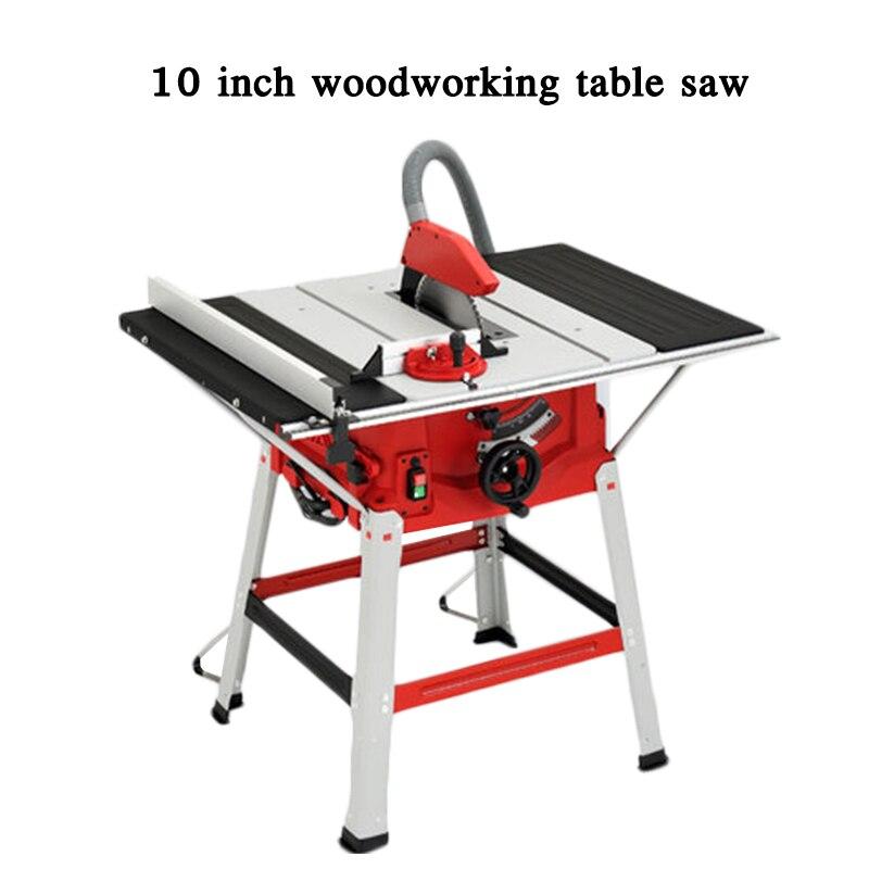 Máquina de serra de madeira multifuncional 10 Polegada serra de mesa de madeira painel máquina de corte de ângulo circular de esquadria elétrica