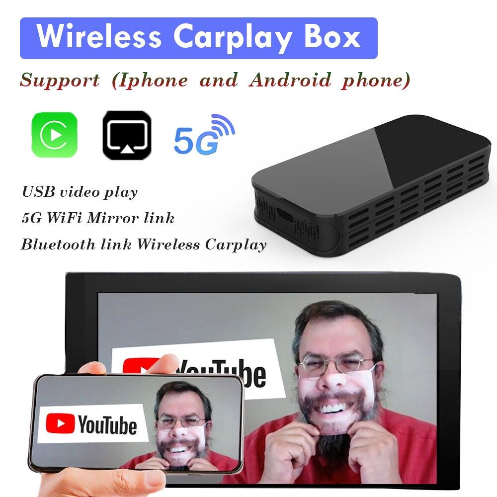 5G واي فاي اللاسلكية CarPlay AI صندوق دعم مرآة ربط يو القرص الفيديو التوصيل والتشغيل الذكية صندوق التلفزيون سيارة لأي إصدار IOS