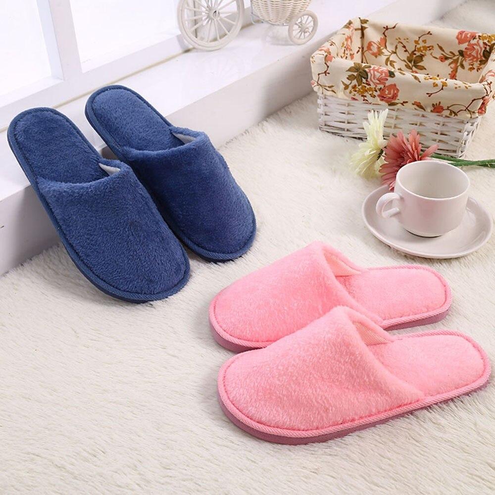 Zapatillas suaves de felpa para hombre, calzado cálido para el hogar, interior,...