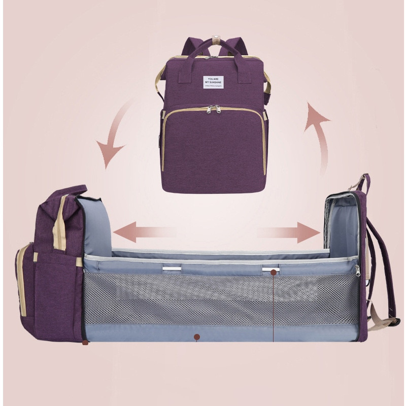 Baby Diaper Bag Bed Backpack For Mom Maternity Bag For Stroller Nappy Bag Large Capacity Nursing Bag For Baby Care