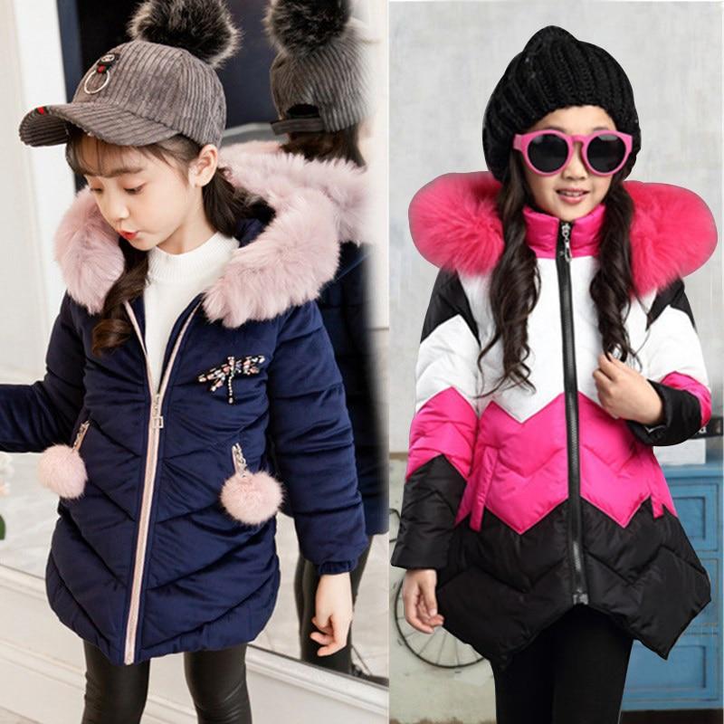 Winter Mädchen Pelz Mantel Fahion Dicke Warme Baby Mädchen Faux Pelz Jacken Mäntel Parka Kinder Oberbekleidung Kleidung Kinder Mantel Alter 3-12 jahre