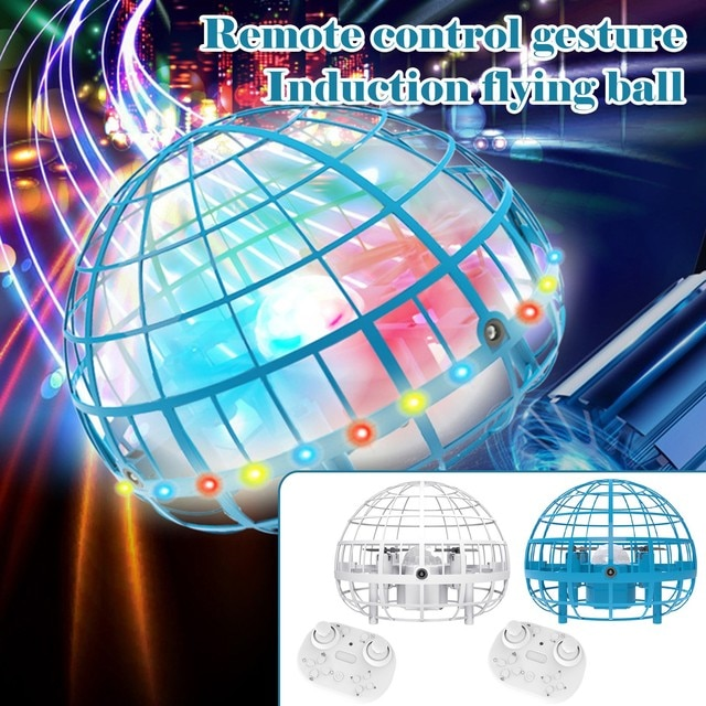 2021 Flying Ball Spinner Ball UFO Boomerang Soaring Flying Toy Mini Drone Hover LED Hand Gesture Control Gift Toys for Kid Adult 4