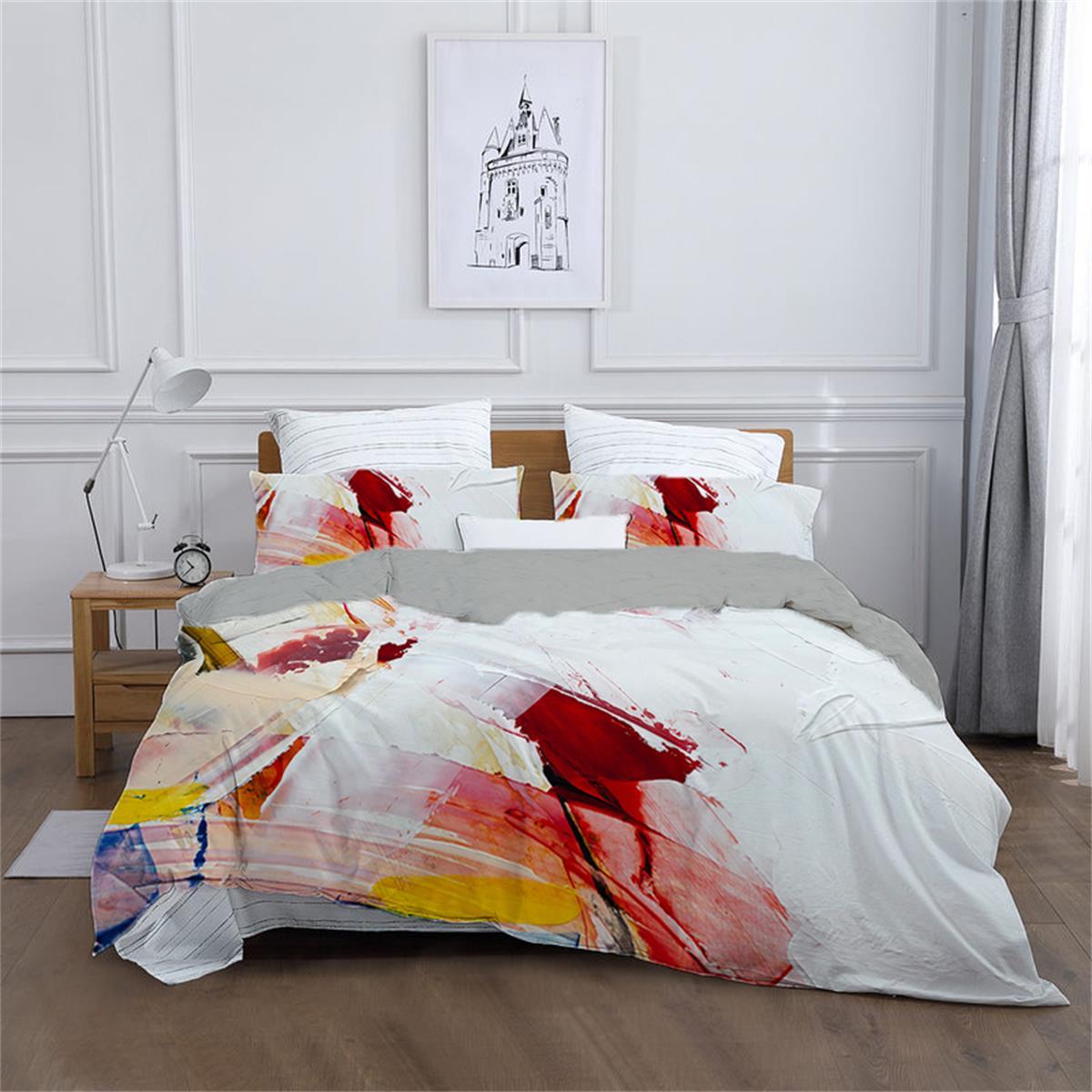 مجردة ثلاثية الأبعاد المطبوعة طقم سرير النفط اللوحة حاف الغطاء المخدة واحدة التوأم الملك لينة ل مواسم المنسوجات المنزلية 220 × 240