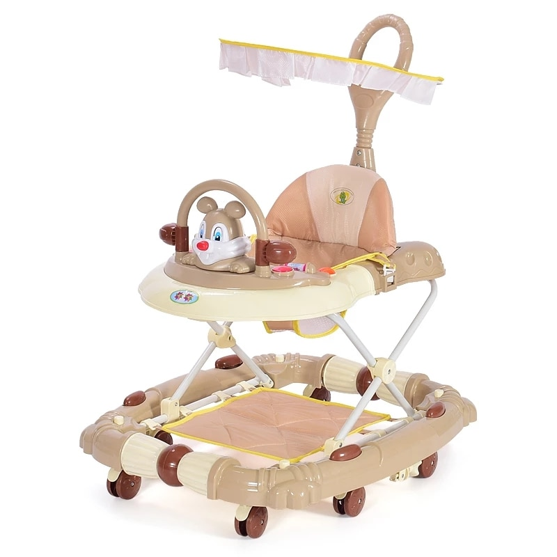Baby Walker Multi-Functional Seat Car Anti Rollover Learning Walker With wheel Infant Balance Car Newborn Rocking Horse