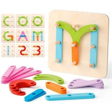 Деревянные буквы цифры строительство головоломка обучающая укладка игрушка набор Форма Цвет Сортировщик деятельности доска Сортировка игра обучающая игрушка